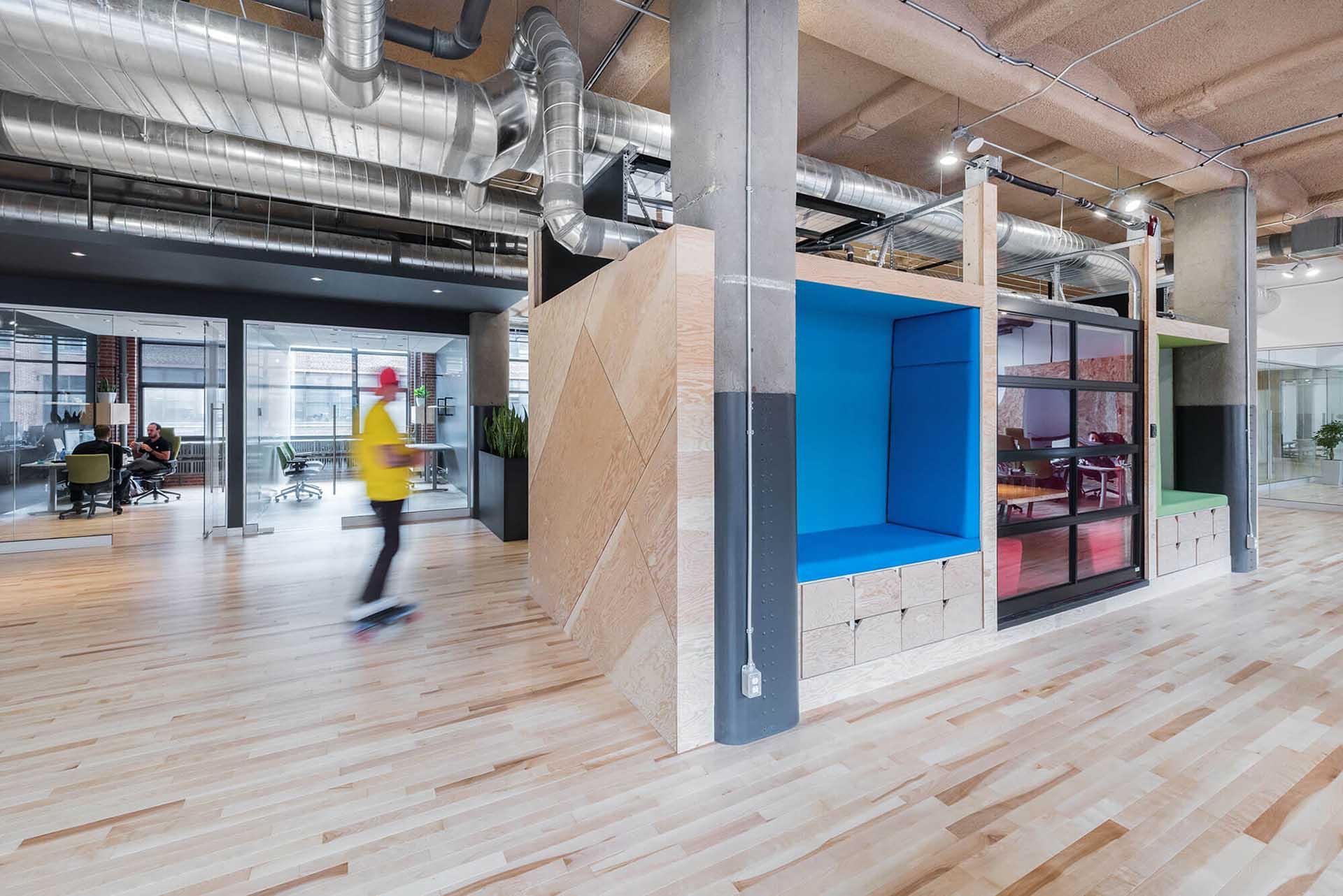 How To Fit A Kitchen >> Open concept office fit-up for GSoft | JCB Entrepreneurs Généraux